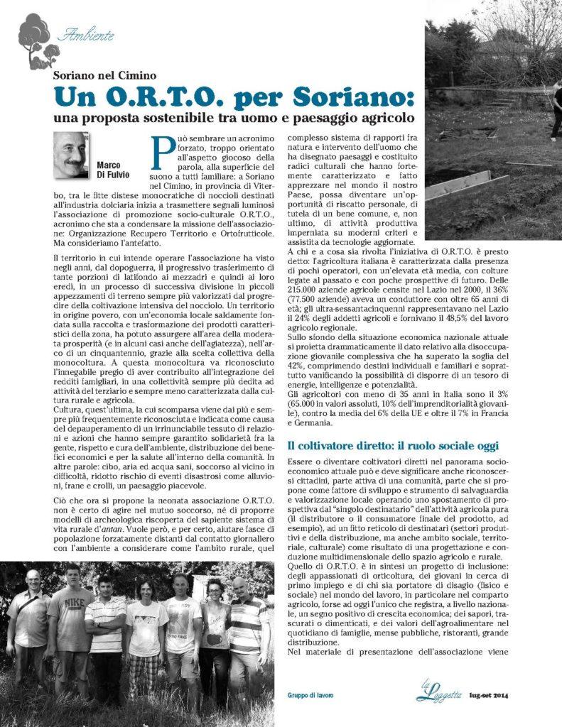 O.R.T.O., Loggetta lug-set 2014_definitivo_Pagina_1