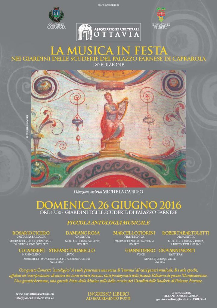 Locandina IX Edizione La Musica in Festa - Caprarola