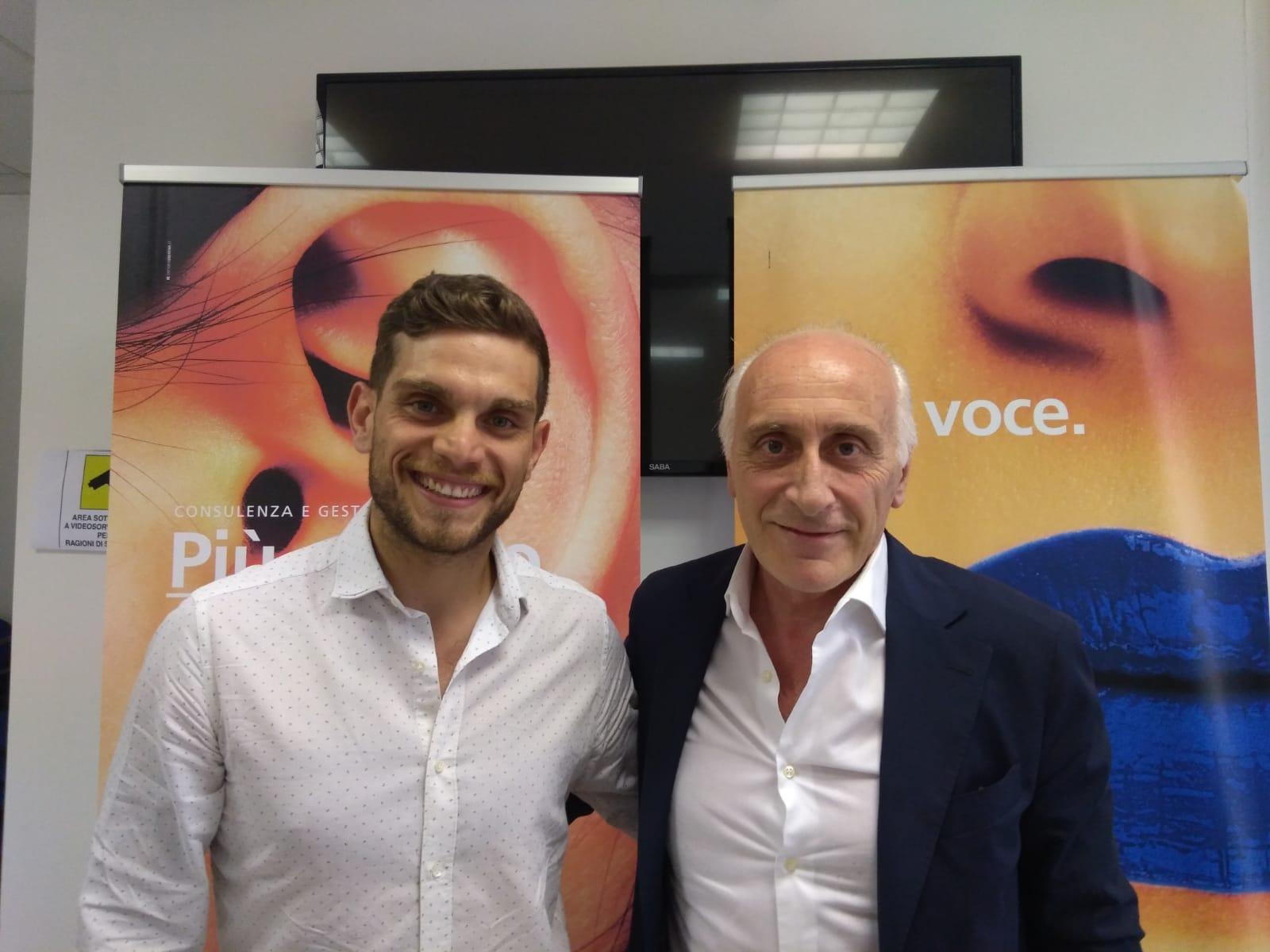Da sinistra Antonio Posati con il presidente Tosti