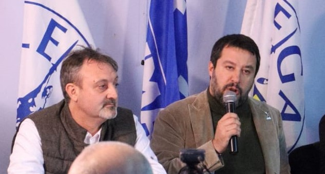 Salvini e il consigliere Cozza